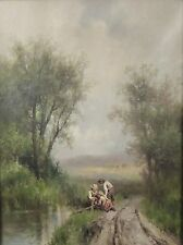 Signed American William H. Couper (1853-1942) River Landscape Oil Painting #1 2D