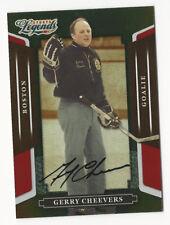 Gerry Cheevers 2008 Donruss Americana Sports Legends Autograph Card Auto /568