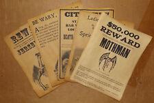 5 Posters, Werewolf Vampire Spring-Heeled Jack Warning Jersey Devil Mothman