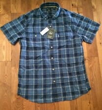 NWT Men's G.H. BASS & CO. Insignia Short Sleeves Button Up Shirt Size XXL 2XL