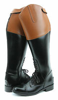 Hispar ROYAL Men Man Field Fox Hunt Hunting Boots With Back Zipper Tan Top