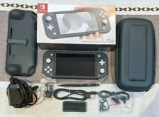Nintendo Switch Lite 32GB Grey Console Bundle With Protective Travel Case & Grip
