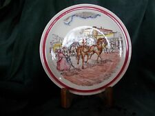 "Bits Of The Old West ""Stage Arrival"" 8-5/8"" Plate, Vernon Kilns"