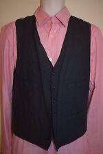 J CREW Mens Wool Cotton Blend Black Vest Waistcoat M