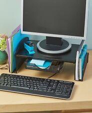 Computer Desktop Monitor Organizer Storage Drawer Desk Office Black