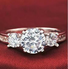 Three- Stone Diamond Engagement Ring Christmas Special 1.10 Ct Round-Cut