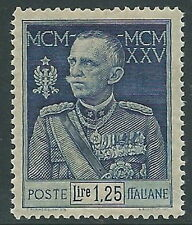 1925-26 REGNO GIUBILEO 1,25 LIRE D. 13 1/2 LUSSO MNH ** - Y208-2