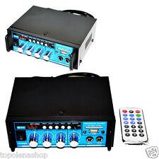 AMPLIFICATORE AUDIO 12V 220V USB SD 2 MICROFONI MP3 FM CASA AUTO KARAOKE BT188A