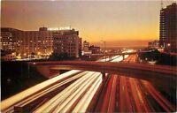 Los Angeles<california~The Harbor Freeway At Dusk~1960s