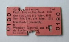 More details for brb railway ticket 0180 rugby league cup final 1981 widnes and hull kr