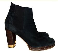 Tory Burch 9 Suede Black Ankle Boots $350