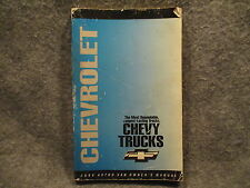 1994 Chevrolet Chevy Astro Van Owners Users Manual Guide Reference Book K85A