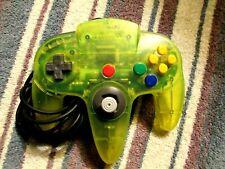 Original Nintendo 64 N64 Lime Green Controller 9/10 NUS-005 Original Stick