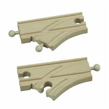 Short curved Switch Track for Wooden Railway Train Set 50931 - Brio Compatible