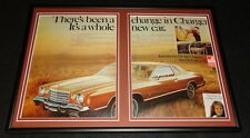 1975 Dodge Charger Special Edition Framed 12x18 ORIGINAL Advertising Display