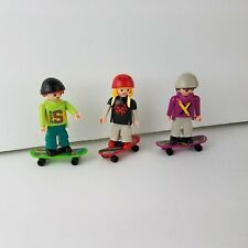 Playmobil 4414 or 5798 Skate Park BMX Skate Board Figures REPLACEMENT LOT of 3