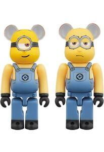Medicom 2020 Bearbrick Despicable Me 3 Minions 100% Stuart & Kevin be@rbrick Set
