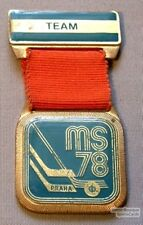 78 World Hockey Championships Official Player Badge #14