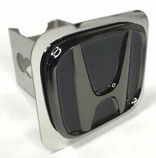 "Black Subdued Chrome Honda Emblem Tow Hitch Cover (Licensed 1 1/4"" Trailer Plug)"