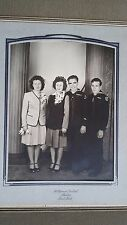 Vintage Photo Portrait WWII Navy Sailor Wives folder