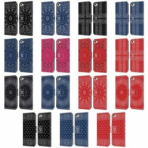 HEAD CASE CLASSIC BANDANA LEATHER BOOK CASE & WALLPAPER FOR APPLE iPOD TOUCH MP3