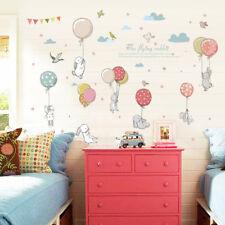 Cartoon Rabbit Balloon DIY Wall Sticker Kids Room Bedroom Home Decoration Pretty