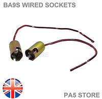 2x BA9S T4W Light Bulb Socket Holder Metal - Side LED Light Cars Bikes Trucks UK