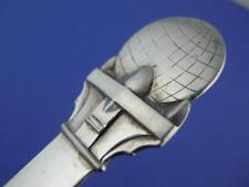 Norwegian 830 Silver Souvenir Spoon HAMMERFEST w/ Globe handle c1930