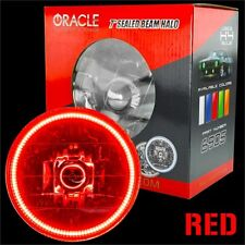 """ORACLE 7"""" Sealed Beam Headlight with ORACLE Pre-Installed Red SMD Halo"""