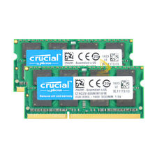 16GB Crucial 2X 8GB PC3 12800S DDR3 1600MHZ  SODIMM Laptop Memory RAM 204PIN %TG