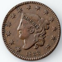 1833 Large Cent, Extra Fine Condition, All Brown Color, Strong Detail for Grade!
