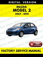 Mazda 2 2007-2014 Factory Repair Service Workshop Manual