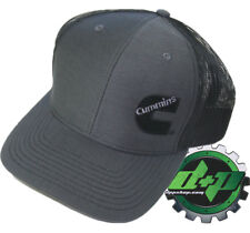 Dodge Cummins trucker hat ball richardson Charcoal Gray Black mesh snap back