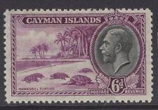 CAYMAN ISLANDS SG103 1935 6d BRIGHT PURPLE & BLACK MTD MINT