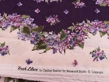 100% ALGODÓN TELA FQ para patio fresco Lilas by Debbie Beavers para Maywood Studios