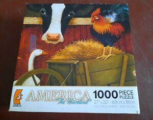 America The Heartland Barn Scene Farm Animals Jigsaw Puzzle, 1,000 piece