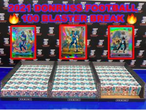 Zach Wilson 2021 DONRUSS FOOTBALL 100 BLASTER BOX NFL PLAYER BREAK #1135