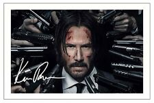 KEANU REEVES JOHN WICK 2 SIGNED PHOTO PRINT AUTOGRAPH