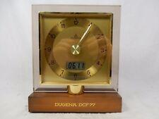 Très rare précoces Dugena DCF 77 Horloge radiopilotée Coultre desk clock working condition