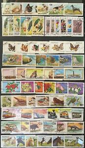 Philippines 1984 Thematic issues 11 complete sets of 6 Bird, Animal, Horse...