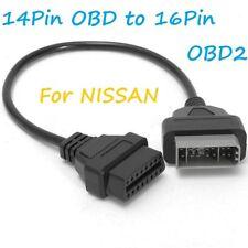 NISSAN 14 PIN OBD to OBD2 16 PIN CAR CODE READER DIAGNOSTIC ADAPTER CABLE