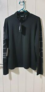 Nike Running Women's 1/4 Zip Long Sleeved Top with reflective details - Medium