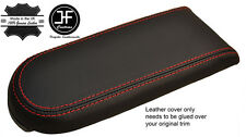 RED STITCH REAL LEATHER ARMREST LID COVER FITS VW GOLF MK4 JETTA GTI 98-05
