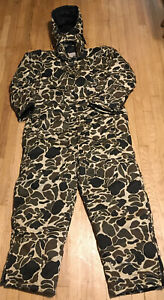 Northwest Territory Conceal Camo Hooded Hunting Coveralls Size 2X