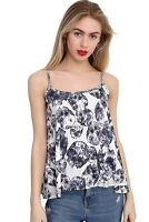 Ladies Women camisole vest top Printed T-shirt Vest Sleeveless TOPS  Size 8-26