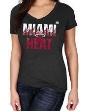 Miami Heat Womens Get Aggressive V Neck Tee Shirt Black