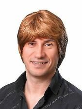 Short Ginger Brown Male Wig Austin Powers 70s Disco Metro Sexual Fancy Dress