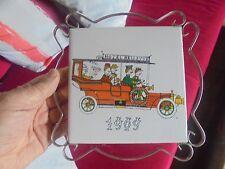 Ancien Dessous de Plat Vintage Années 70 Tacot 1909sur Carreau de Gien