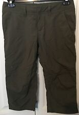 North Face Women's Size 6 Pants Dark Green