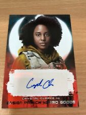 Star Wars The Last Jedi Crystal Clarke 17/99 As Ensign Pamich Good Red Auto Card